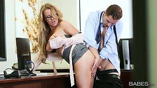 Young boss fucks sextractive blond secretary in glasses Corrina Blake
