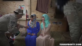 two arab whores share an american soldiers cock