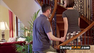 Swinger couple talks about taking one for the team as they discuss contract