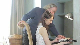 Erotic schoolgirl is seduced and reamed by older schoolteacher