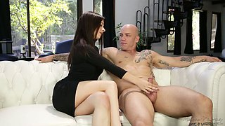 Sexy Lacey Channing loves to get naked and she has nice fellatio skills