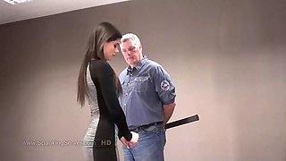 Caprice gets beaten on the floor