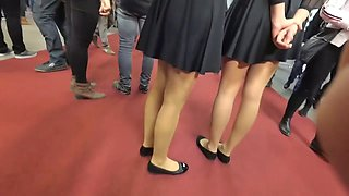 My catches -- Beautiful Hostesses in Pantyhose and Ballerinas