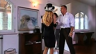 Hot Milf members gangbang cuckold