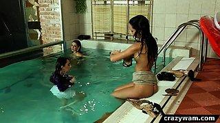 Shiny satin pool pal freaks