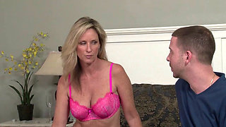 Blonde MILF with big tits getting fucked hard