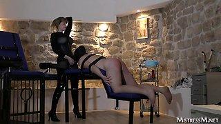 female domination dominatrix mistress m Paris loves to whip men