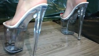 Lady L crush crush bascet with 24cm extreme high heels