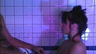 Insatiable mistress April West seduces a guy for a great shag