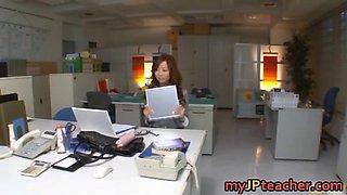 Kaori Lovely Asian teacher has nice