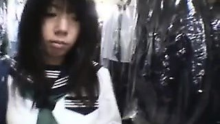Pulled amateur doggystyle in public toilet