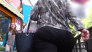 big ass curvy mature in candid footage