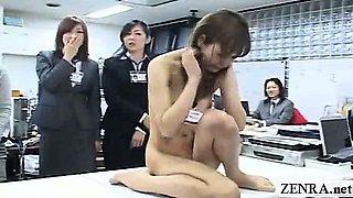 Subtitled CMNF ENF Japanese office rock paper scissors