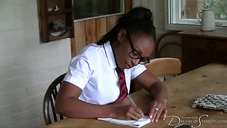 Student lola marie punished by her teacher