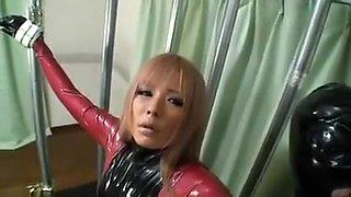 Japanes latex catsuit 5