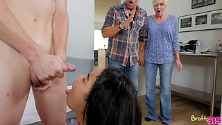 Perverted Maya Bijou seduces her step brother and fucks him without mercy
