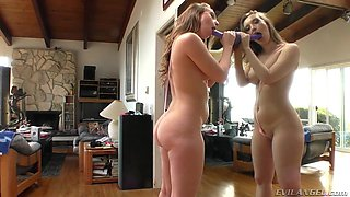 big booty harley jade shows off her skills with a dildo @ buttman anal & oral antics