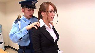 Jessica Kizaki performs as office lady