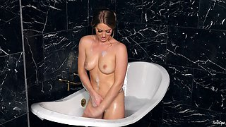 Veronica Weston takes the most erotic bath of her whole career