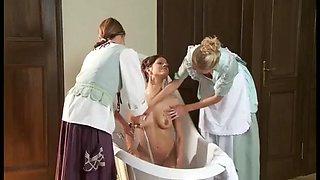 bathing the mistress