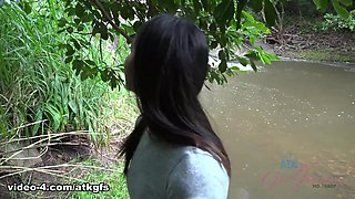 Emily Fucks You In The Woods, And You Cum In Her Mouth - ATKGirlfriends