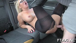 sexy babe loves fucking in fake taxi