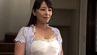 Attractive Japanese milf with big hooters loves hardcore sex
