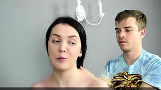 Horny guy penetrates Sasha Mamaeva and pops her virgin pussy