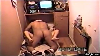Horny desi with fat belly sucks slim girl in a missionary position. Hidden camera