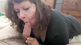 my cumdumpster wife sucks my cock and swallows my load