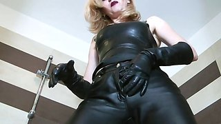 leather mistress teases