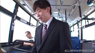 sayuki kanno gives head on a bus