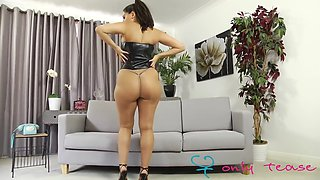 Charley s, black dress strip
