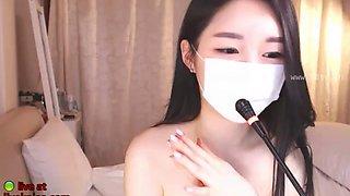 Korean bj in lingerie shows her body