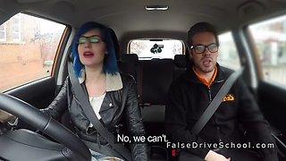 busty alt hottie anal fuck in car