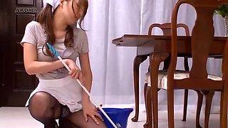 Horny Japanese chick Kaede Oshiro, Yuria Shima, Mayuka Momota in Amazing Maid JAV clip