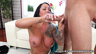 Ashton Blake & Brad Knight in The Tattooed Stepmom - MommyBlowsBest