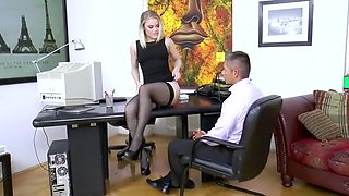 Secretary Ash Hollywood Hard Fucking In Sexy Black Stockings