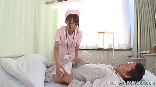 Devote nurse in nylon stockings having her pussy fingered before getting throbbed doggystyle