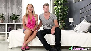 Euro couple blowing bisex guy