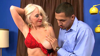 Gorgeous Blonde Granny Fucks Toyboy Good