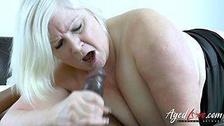Horn-mad chubby boss Lacey Starr lures black designer to suck his lollicock