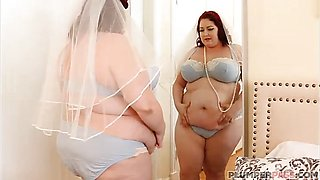 BBW Bride Eliza Allure Fucking Best Man's Friend