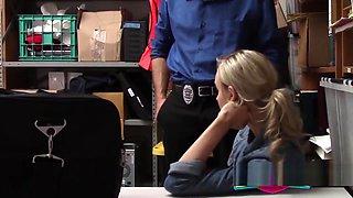 Innocent teen enjoys a firm cop dong entering her tight cunt