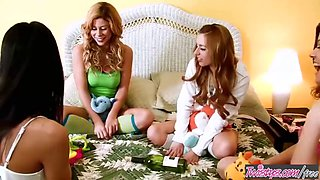 Cute teen brooklyn lee and lexi belle have fun