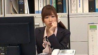 Fabulous Japanese slut Chika Eiro in Exotic Blowjob, Office JAV scene