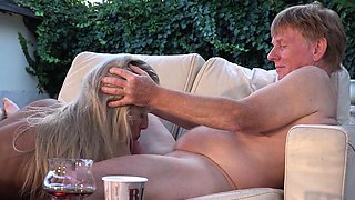 Old Young - Teen Lusty Blonde Pussy Eaten Horny Grandpa