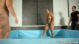 thick wrestling bbw gets pussyfucked