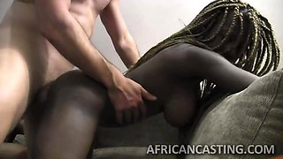 White guy gets to bang black cutie