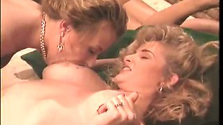 Kinky bootyful lesbians have steamy orgy party and nice cunnilingus session